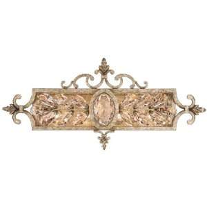 Nights Dream Wall Vanity Lighting, 4 Light, 240 Watts, Silvery Gold