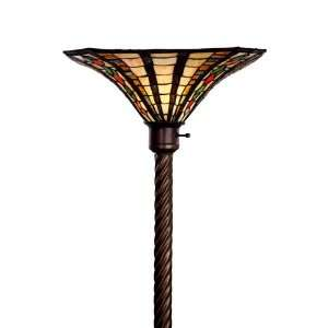 Golden Amber Torchiere, Large Red, Orange & Green: Home Improvement