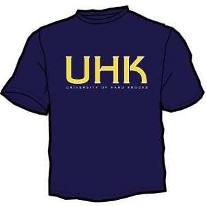 University of Hard Knocks   Short Sleeve Navy T Shirt