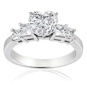 1 Ct Heart Shaped Diamond Engagement Ring CUTVERY GOOD