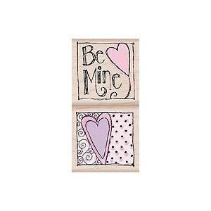 Be Mine Wood Mounted Rubber Stamp Set (LP030) Arts