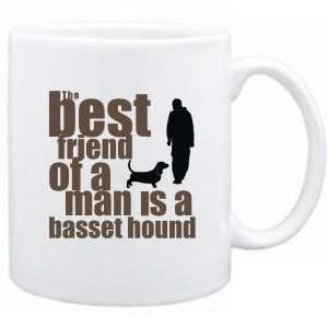 The Best Friend Of A Man Is A Basset Hound  Mug Dog