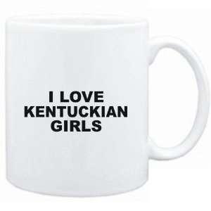 Mug White  I LOVE Kentuckian GIRLS  Usa States  Sports