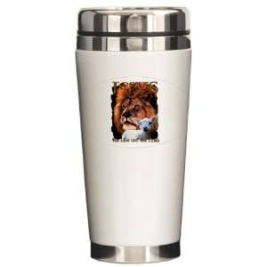 Ceramic Travel Drink Mug Jesus The Lion And The Lamb: Everything Else