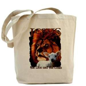 Tote Bag Jesus The Lion And The Lamb: Everything Else