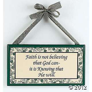 Wood Faith Is Knowing He Will Sign, Wall Decorations, Party
