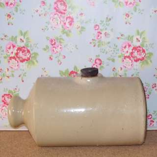 Vintage Antique Stoneware Pottery Bed Warmer ZE22