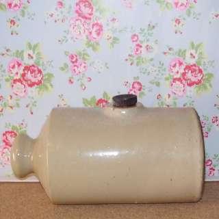 Vintage Antique Stoneware Pottery Bed Warmer ZE22