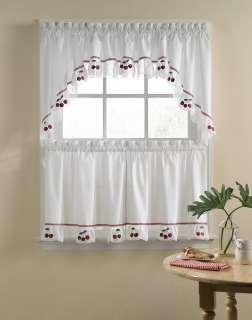 Fresh Cherries 5 Piece Kitchen Curtain Tier Set / Curtainworks