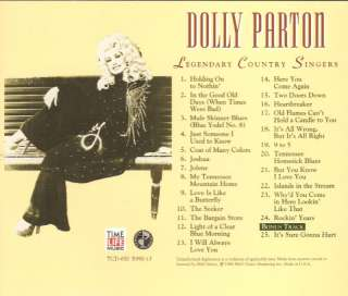 DOLLY PARTON Legendary Country TIME LIFE CD ~Near Mint!