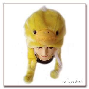 Cute! NEW Yellow * BABY DUCK * Cartoon Animal Plush Winter warm Hat