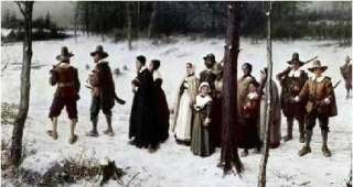 Pilgrims Going To Church Art Print by George Henry Boughton at