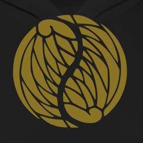 Yin Yang Wings in Gold Metallic on Ladies AA Hoodie  http//www