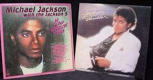 Vintage Michael Jackson Record THRILLER & JACKSON 5