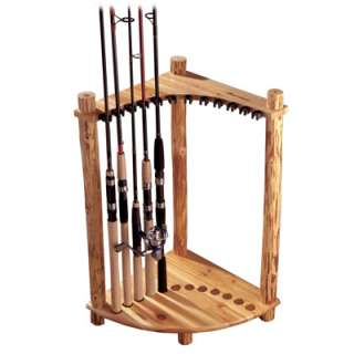 Rush Creek Rustic Pine Log Corner Rack Fishing Rod Holder  Meijer