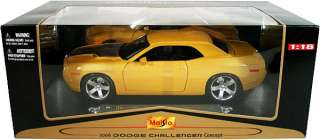 Dodge Challenger Diecast Model 118 Yellow 2006 2011 style body Brand
