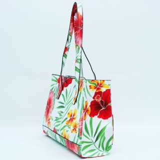 Women Inspired Floral Print Tote Bag Handbag Purse