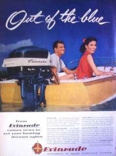 1956 EVINRUDE OUTBOARD MOTORS   MILWAUKEE WISCONSIN PRINT AD!