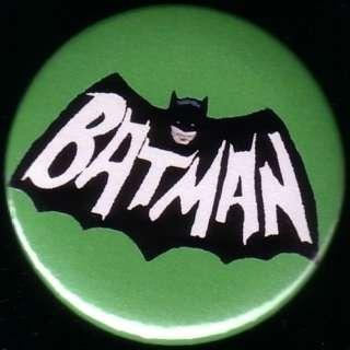 BATMAN 60s TV LOGO 2.25 pin button badge magnet ADAM WEST 1967 ROBIN