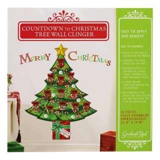 12 days of) Christmas Tree Wall Cling Advent Calendar Ornament