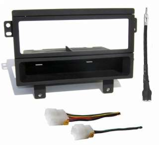 Install Mounting Trim Dash Din Kit + Wire Harness & Antenna Adapter