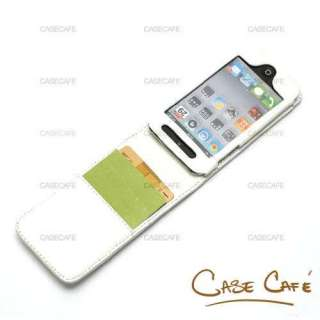 LEATHER FLIP CASE COVER APPLE IPOD TOUCH GEN 4 4TH 4G