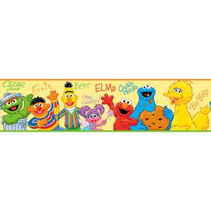 RoomMates Sesame Street Peel & Stick Border