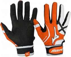 Mizuno Vintage   Adult   Pro Batting Gloves G3   Orange Large Pair