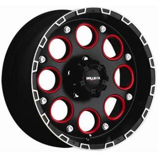 18 inch black red wheels rims 8x170 ford 8 lug truck f250 f350