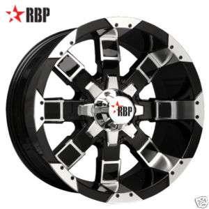 20 RBP 95R Wheels & TIRES BLACK Offroad 20 inch RIMS