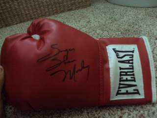 Sugar Shane Mosley Signed Boxing Glove with proof