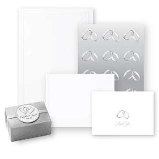 Pearl Border Wedding Invitation and Favor Box Kit Party Supplies