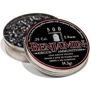 Crosman Benjamin .20 Caliber Cylindrical Lead Air Rifle Pellets