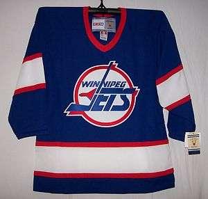 Vintage 1994 Winnipeg Jets Blue CCM 550 Jersey Small