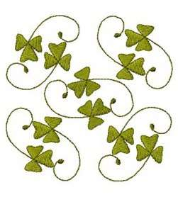 Irish Shamrocks Celtic St Patricks Quilter Quilting Clover Embroidery