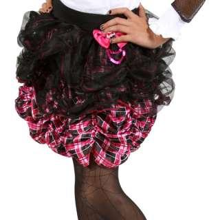Monster High Petti Skirt, Pink Plaid Pretend Play, Arts