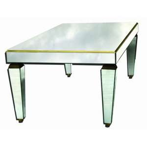 Venetian Gems Venetian Mirror Coffee Table Furniture