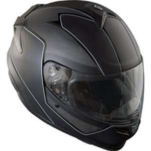 Kali Darkness Naza Carbon Street Racing Motorcycle Helmet   Black / 2X