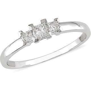 Carat T.W. Three Stone Princess Cut Diamond Ring ?