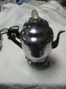 Electric Percolator Coffee Maker Cloth Cord Fancy Design 208