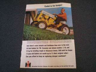 1966 International Harvester Cub Cadet Lawn Mower Ad