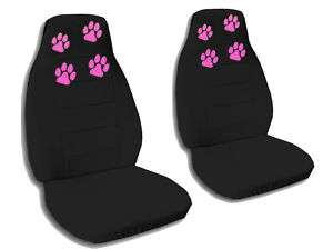 CUTE CAR SEAT COVERS BLACK W/PINK PAW PRINTS NICE~~