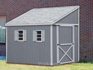 x14 Slant / Lean To Style Shed Plans, See Samples