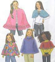Childs Ponchos Capelet Sewing Pattern Easy 4846 New