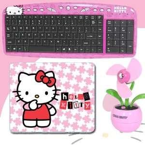 Hello Kitty USB Keyboard with Hot Keys #90309K (Pink) + Hello Kitty 3D