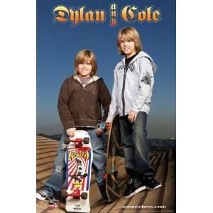 DYLAN AND COLE SKATE POSTER 24 X 36 SPROUSE #8719: Home