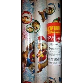 Hallmarks Alvin and the Chipmunks Christmas Gift Wrap 50 Sq. Ft. by