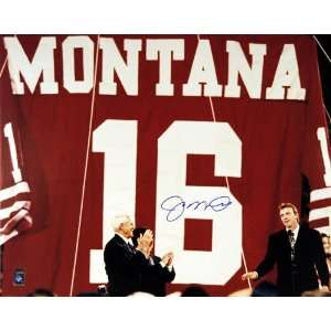 Joe Montana San Francisco 49ers  Hall of Fame 2000  16x20 Autographed