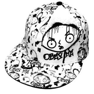 Family Guy Stewie Griffin Obey Me Spray Flat Bill Flex Fit Hat