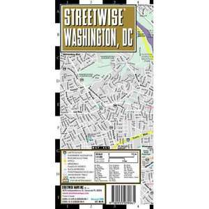 Streetwise Washington, DC Map   Laminated City Street Map